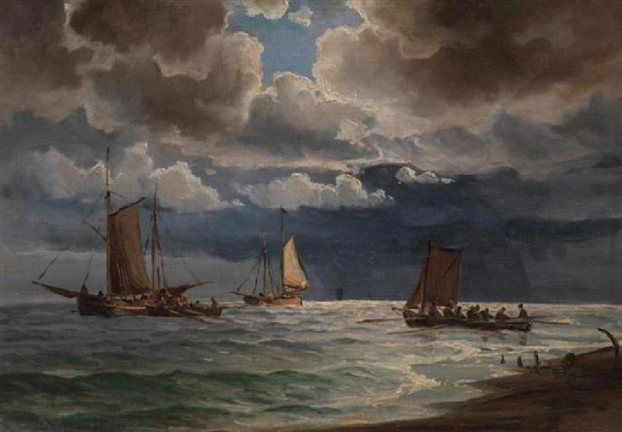 Boat to Spetses - Ioannis Altamouras - WikiPaintings.org