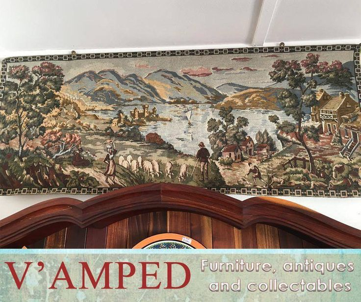 This gorgeous country scene old world #tapestry, available from #VampedFurniture will create a new sense of charm and wonder in your home. Contact Rory on 076 983 4008 for more information. Delivery available nationwide on arrangement.