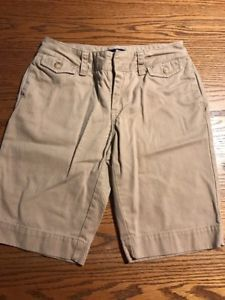 Ralph Lauren Girls Size 12 Tan Chino Shorts  | eBay