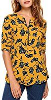 Shinekoo Women Casual Long Sleeve Chiffon Blouse Tops Shirt with Zipper