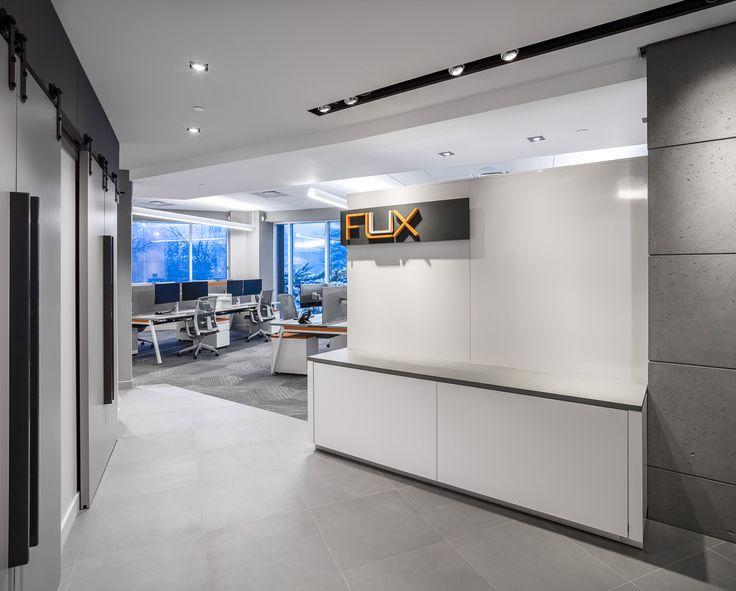 Welcome to FLUX. #lighting #design #entrance #architecture #branding #logo #office #showroom #3G #lumenwerx