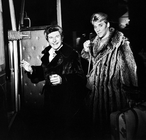 Liberace and Scott Thorson in the 70's - night out on the town.