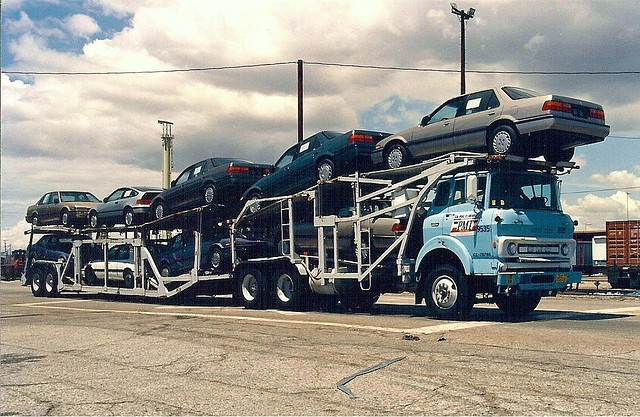 Tilt Cab GMC car carrier