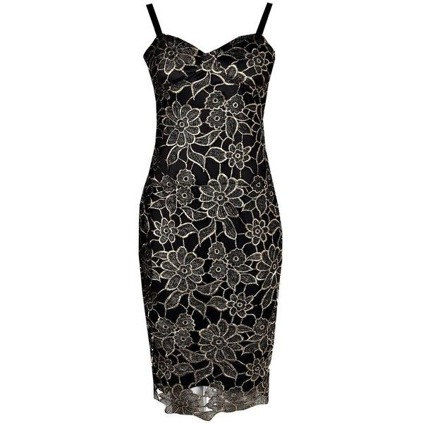 Boohoo Petite Ruby Metallic Corded Lace Midi Dress (225 MXN) ❤ liked on Polyvore featuring dresses, calf length dresses, lace midi dress, petite cocktail dress, petite dresses and metallic dress