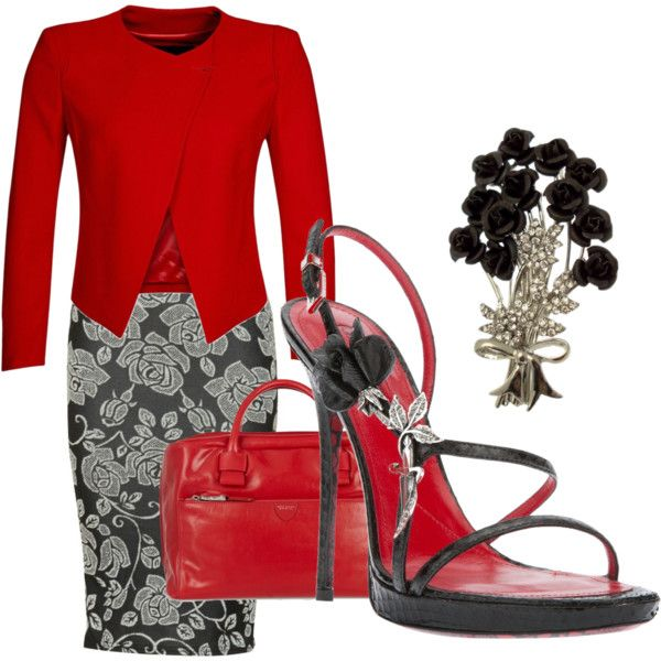 Basic Red and Black, created by striplingmom-1 on Polyvore