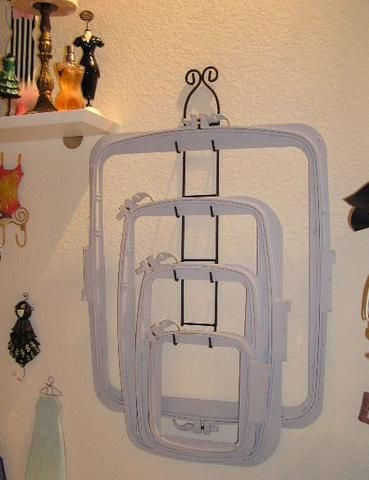 Storage for Creative Vision Embroidery Hoops - Machine Embroidery organizing idea.