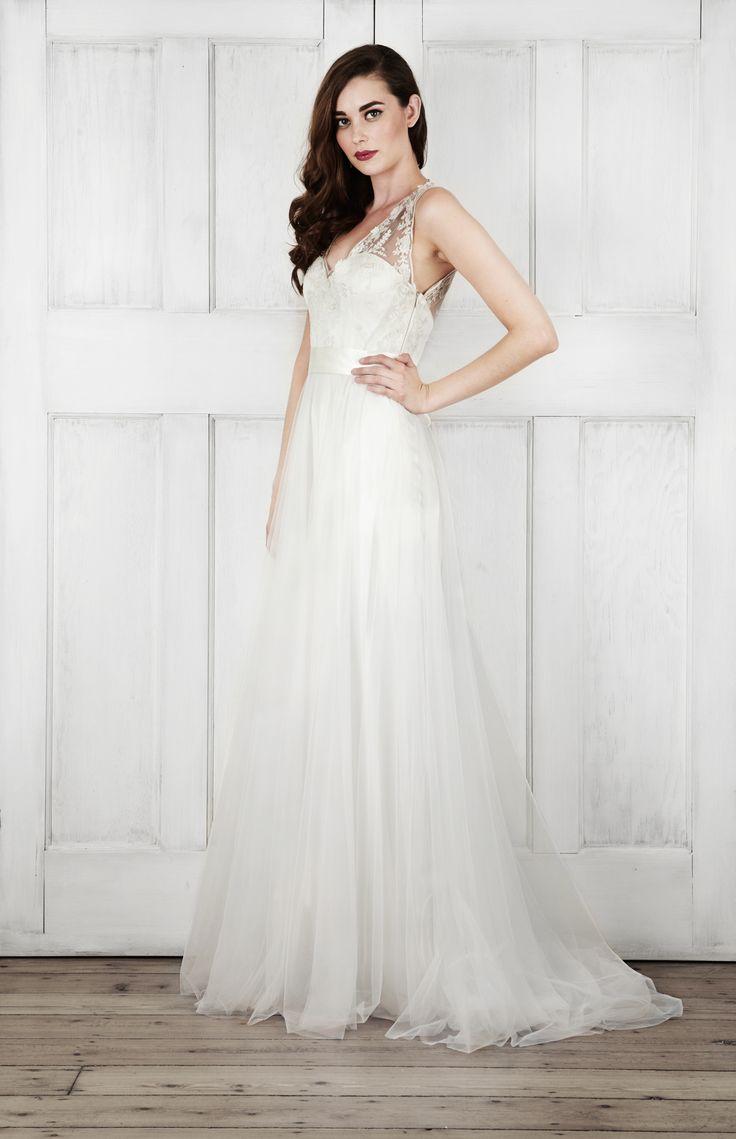 "Catherine Deane ""Onyx"" gown available at Carrie Karibo Bridal Cincinnati, Ohio www.carriekaribobridal.com"