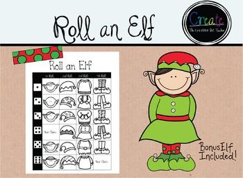 Using this dice drawing sheet, students will create & color a holiday elf design. This is a great sub lesson.