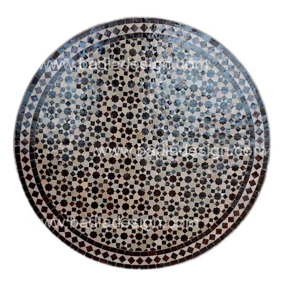 Round Mosaic tile table including Moroccan tile table top Los Angeles, tile table top, Moroccan patio furniture, Moroccan tile table, Mosaic tile table top, Moroccan tile table pictures, Moroccan mosaic tile table top, Moroccan furniture Los Angeles