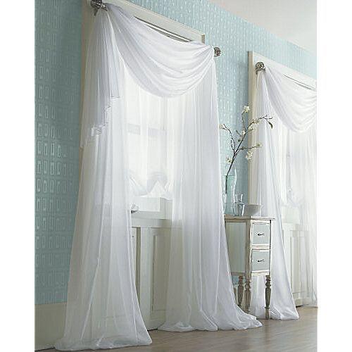 White Sheer Curtains Home Decor