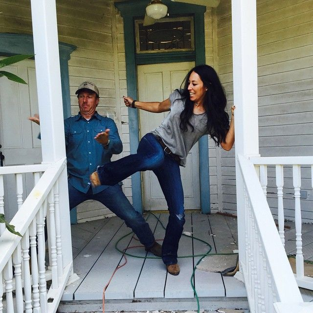 We karate chopped and kicked the vinyl railing on this late 1800s home to make room for new authentic awesomeness. #hiiiiiiiiiiiiyaaaaaaaaa! #chipchop @hgtv #fixerupper photo credit @matsumoto818