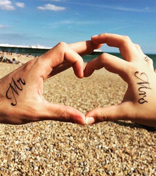 Hochzeit-Tattoo: Say Hallo to Mr. Mrs ...