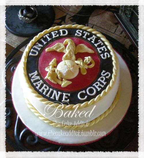 us marine corps wedding | US Marine Corps Groom's Cake