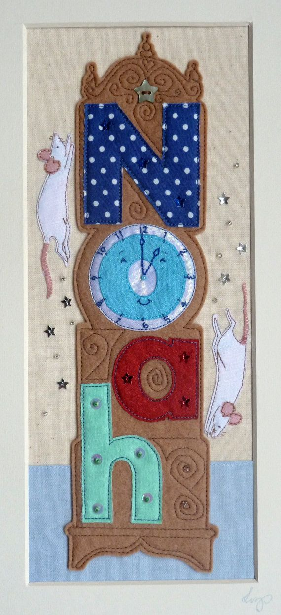 Nursury Rhyme Children's Name Plaque Hickery by GlistenAndGoldArts