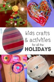 All the holiday crafts and activities for kids to do.
