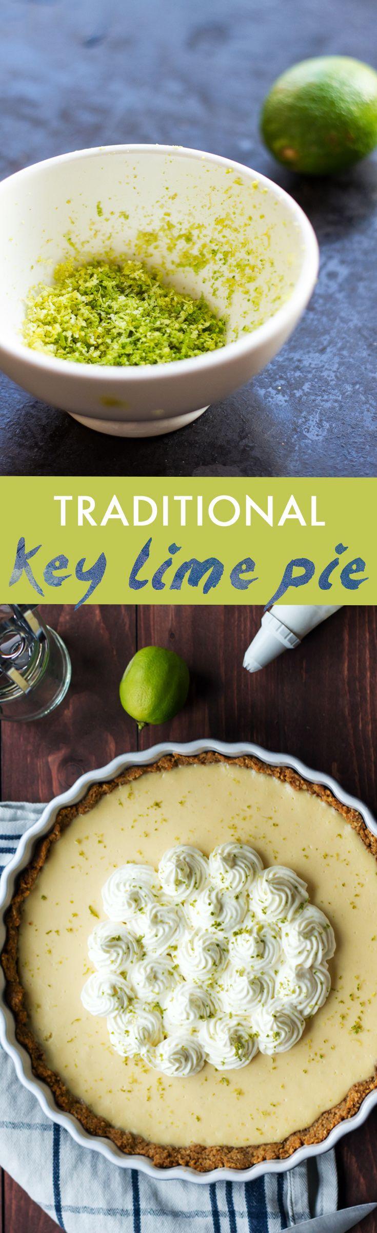 Key lime pie recipe with awesome cookie pie crust. #key #lime #pie | www.haveanotherbite.com