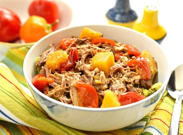 Tropical Slow Cooker Pork Roast Recipe {Paleo, Whole30, Gluten-Free, Clean Eating}