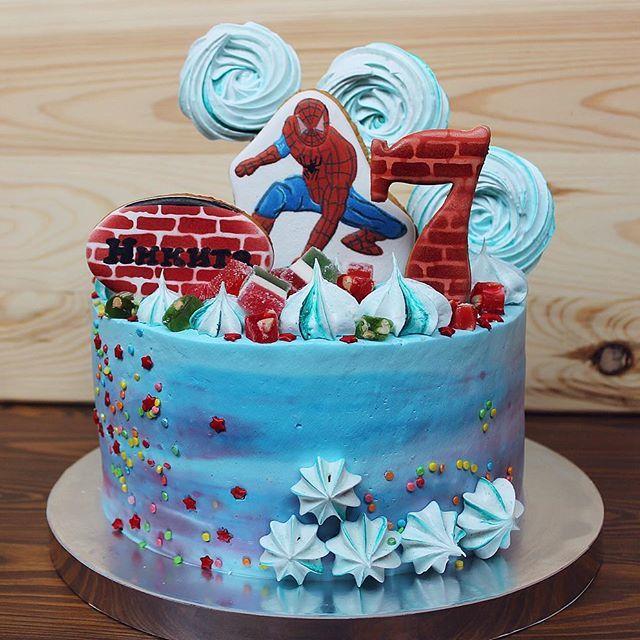 Торт мальчику Человек Паук без мастики. посмотрите в Instagram фото и видео RM_home_bakery (@rm_home_bakery)