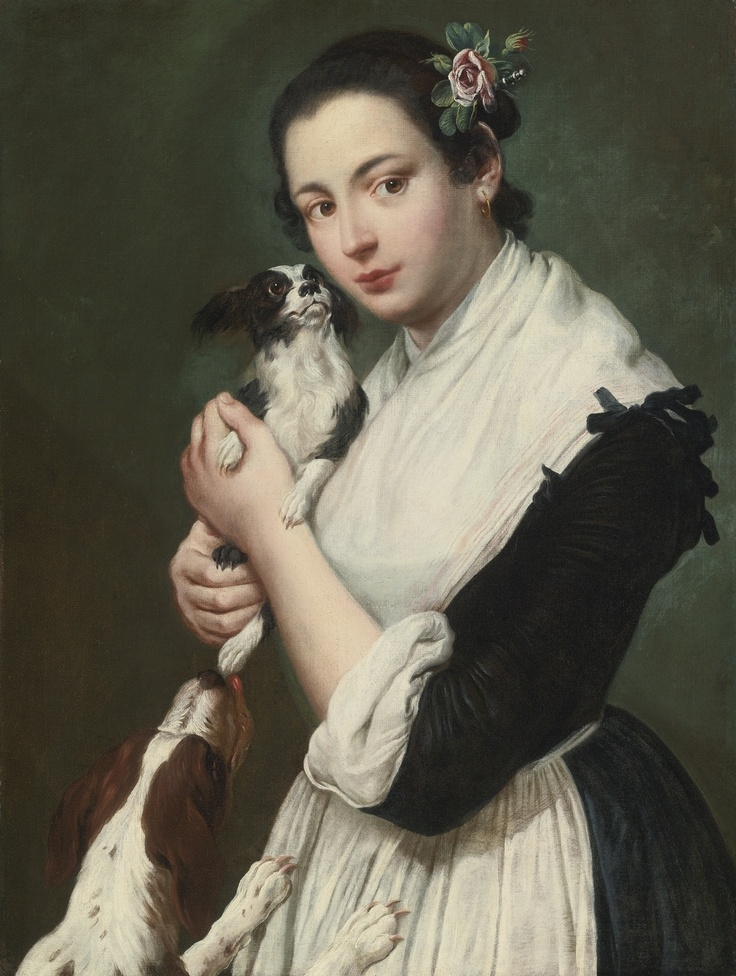 Giacomo Ceruti, il Pitocchetto (1698 - 1767) - A young lady with two dogs