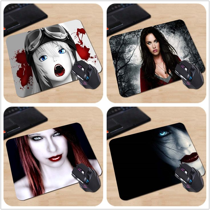 Background High quality Best Durable Gaming Optical Mat vampire girl Rectangle Anti-Slip Laptop PC Mice Pad Mouse Mats