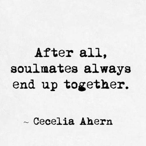 Learning more about soulmates as I get older