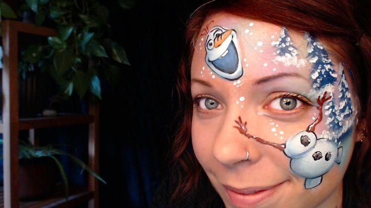Maquillage de Olaf - La Reine des Neiges