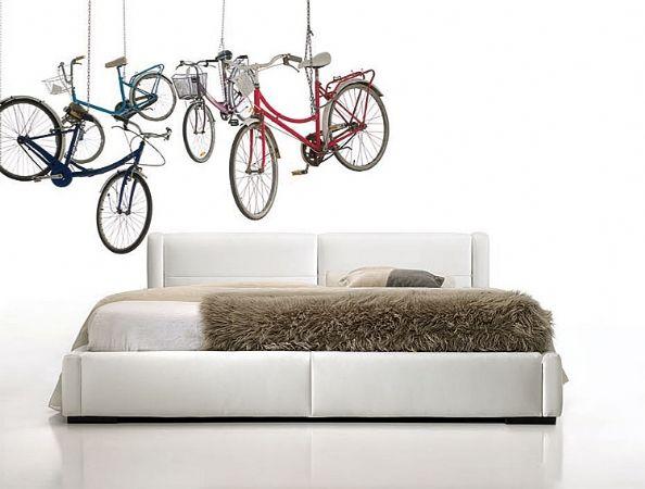 cama tapizada bike 34 - cama tapizada piel,polipiel o tela
