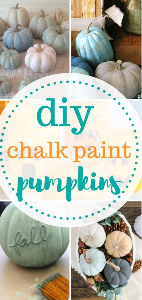 Chalk paint pumpkins! A fun DIY craft!