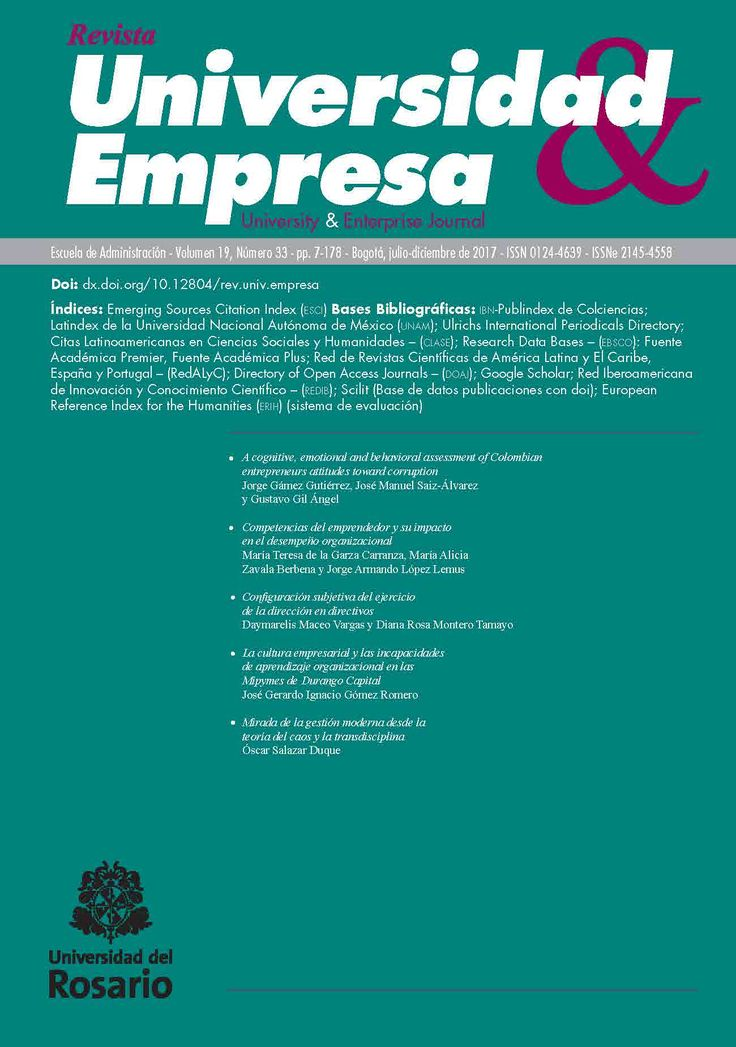 Universidad & Empresa Vol. 19, Núm. 33 (2017)