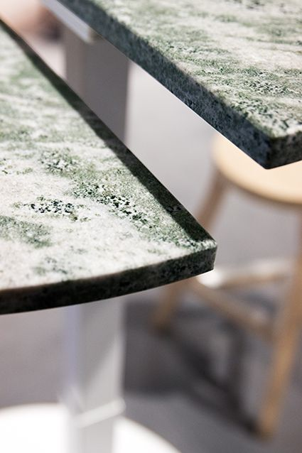 This marble desk was shown at Stockholm Furniture Fair 2017. It is designed by Jens Enflo. #movingisliving #designmeetsmovement