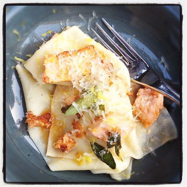 Sheet Egg Pasta With Salmon And Sage Brown Butter - Cooking with Tenina