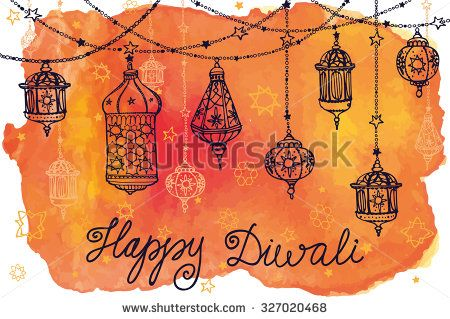 30 best diwali images on pinterest diwali diwali wishes and happy happy diwali festivaladitional hanging lampodlewatercolor splashctor background m4hsunfo