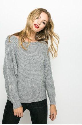 Medicine - Sweter Nocturne kolor jasny szary RW17-SWD611 - oficjalny sklep MEDICINE online