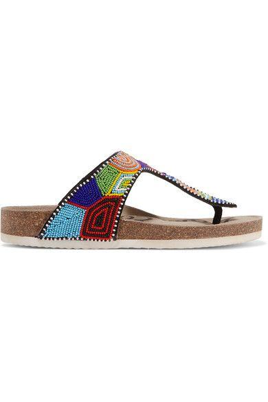 GABRIELLE'S AMAZING FANTASY CLOSET | Sam Edelman beaded thong sandals
