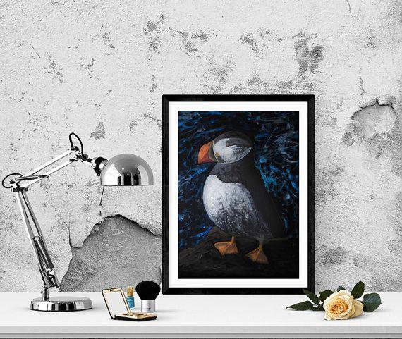 Bird N10 on a dark background. Oil Painting. by GausCraftStudio