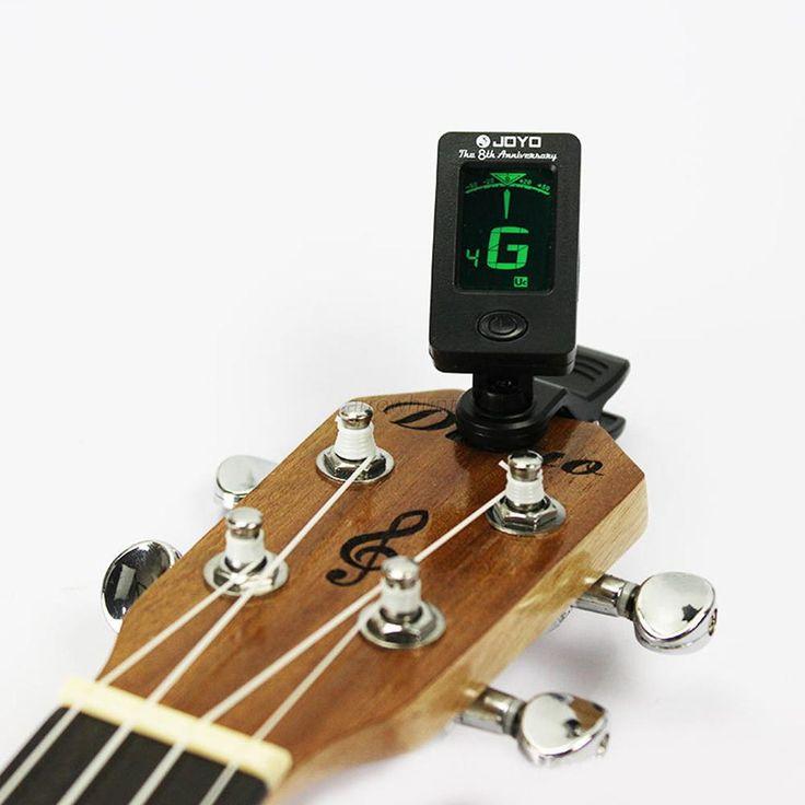 Clip-On Digital Chromatic Bass Violin Ukulele akustik Listrik Gitar Tuners