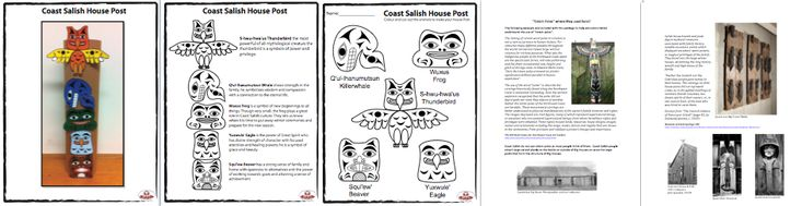 Aboriginal Education downloadable resources from SD79.  Orange Shirt Day, totem poles, Coast Salish House Posts, Numbers, Bent Cedar Boxes, Colors, Letters, etc.