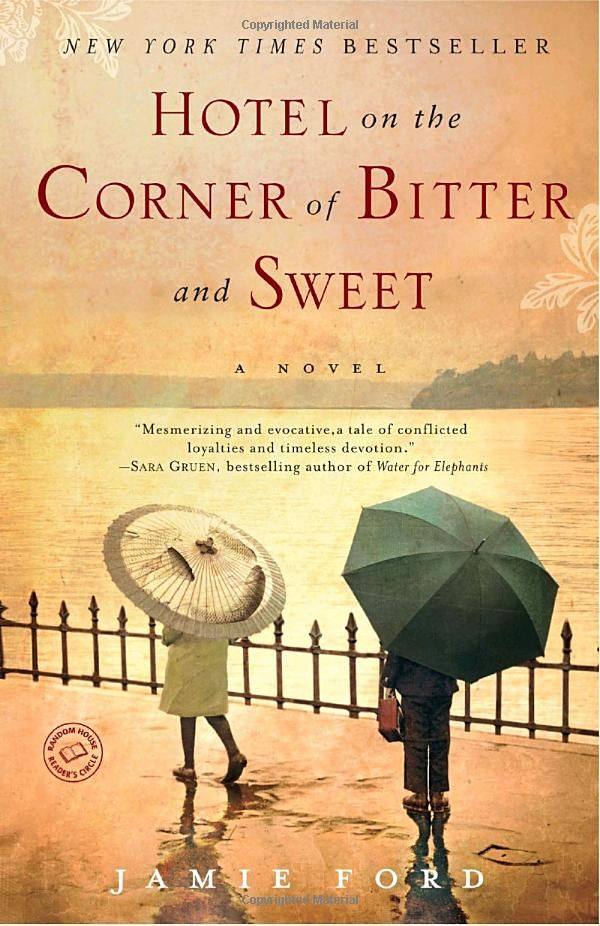 This is an amazing book about two young Asians who are children during World War II. It chronicles the hardships they go through dealing with racism after Pearl Harbor, and switches back and forth from present day to the past. It is a sweet love story and also a mystery that keeps you on the edge of your seat.: Worth Reading, Book Club, Corner, Sweets, Jamie Ford, Books Worth, Bitter, Bookclub, Hotels