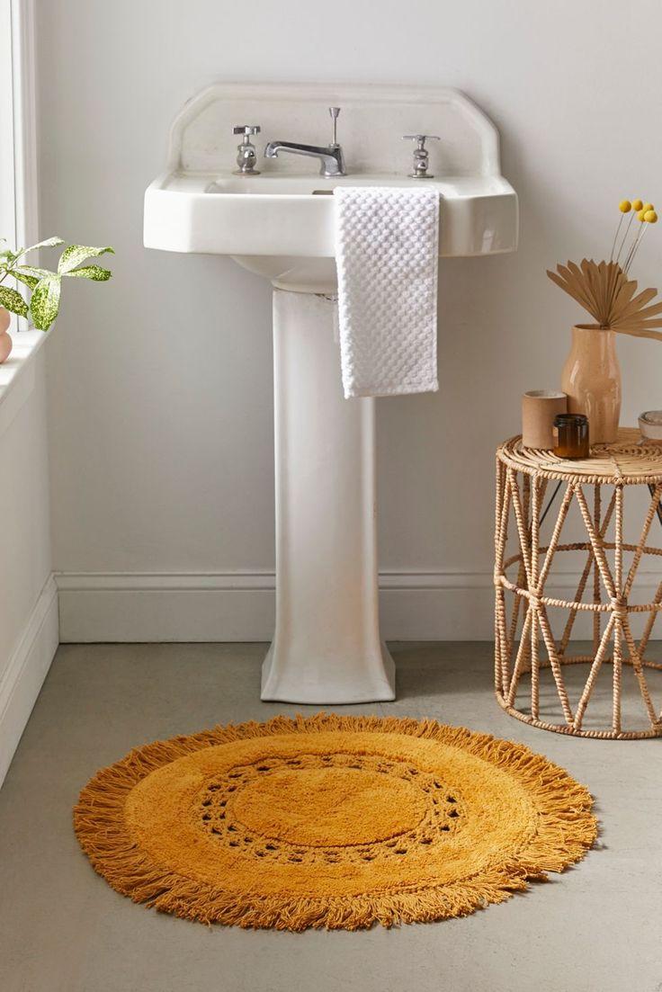 Raine Crochet Round Bath Mat   Urban Outfitters   Round bath mats ...