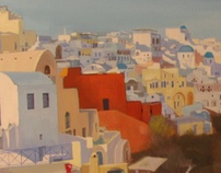 Santorini Cycle by Iva Ivanova, via Behance