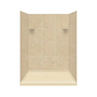 Samson Solid Surface Three Panel Shower Wall Kit U0026 Reviews   Wayfair