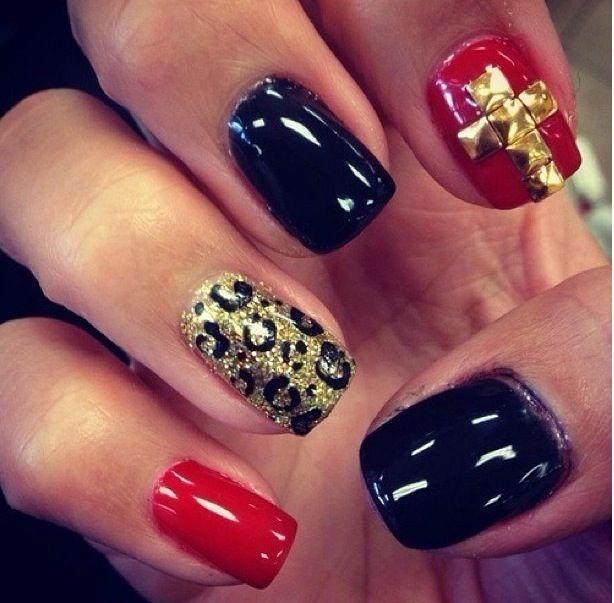 Red And Gold Nail Designs Tumblr ... , Nail Designs, Ma...