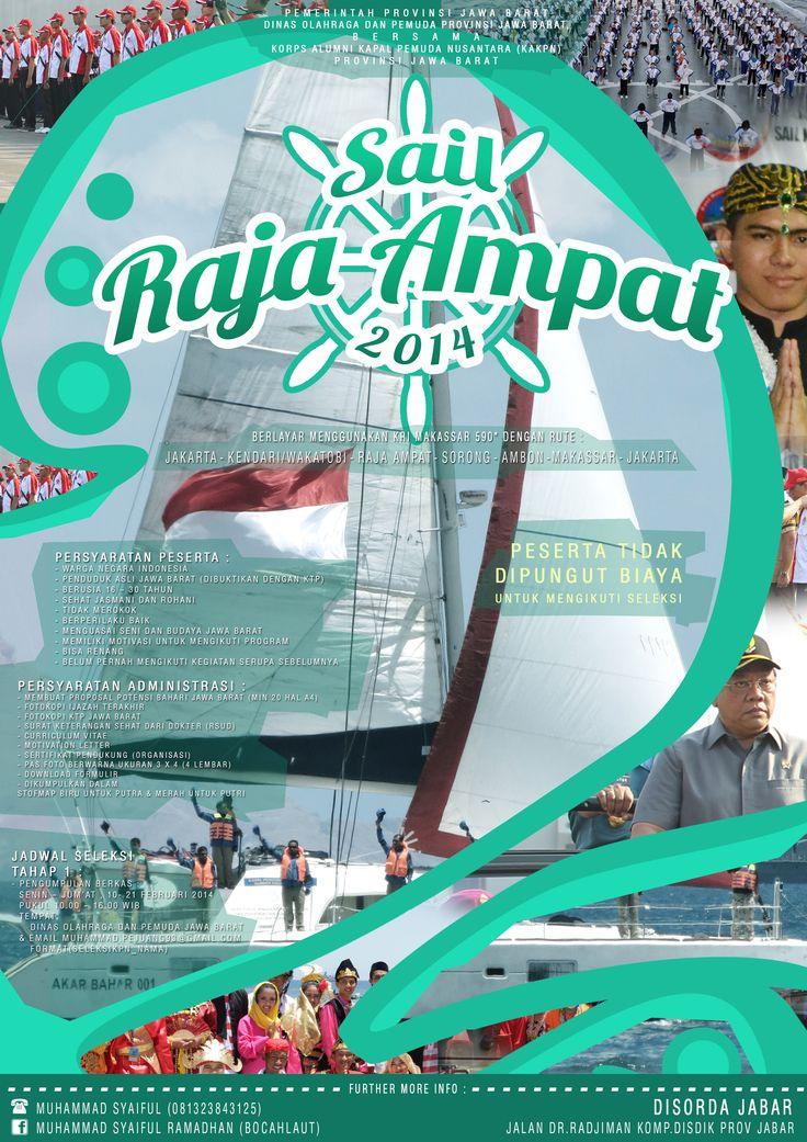 Sail Raja Ampat 2014 poster