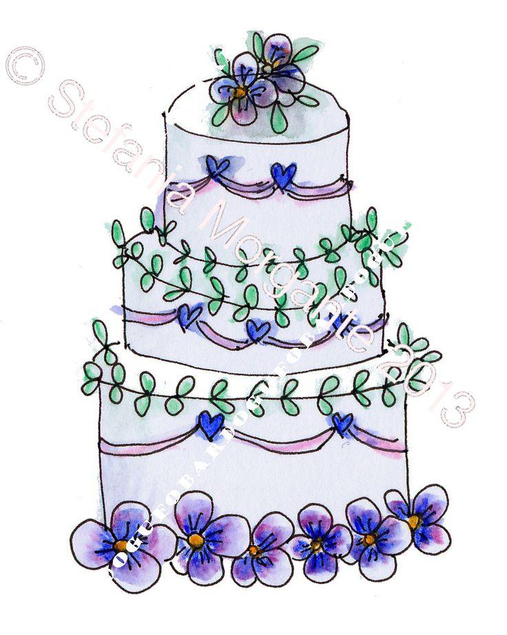 ON SALE Paper Digital sheet Printable CAKE with pansies-scrapbooking-Download and print-300 Dpi - €1.27 EUR