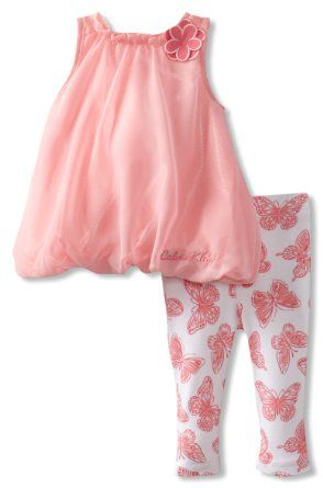 Amazon.com: Calvin Klein Baby-Girls Newborn Tunic With Printed Butterfly Leggings: Clothing