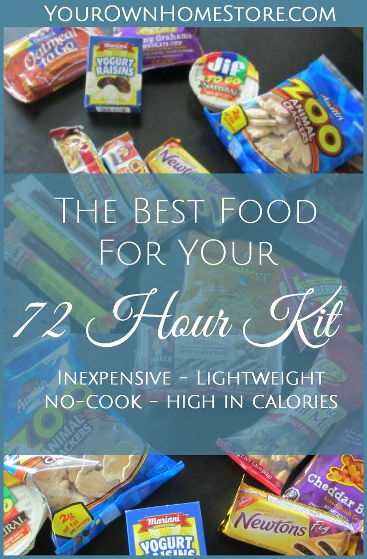 Smart food for your 72 hour kit | no-cook 72 hour kit food