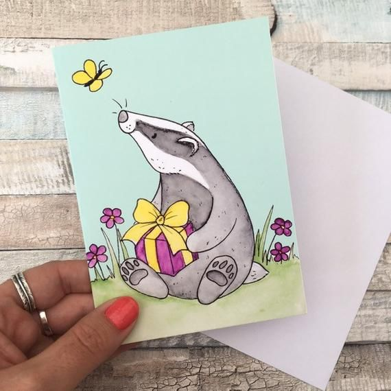 Badger Birthday Card Badger Gift A6 Greeting Card Animal Gift Wildlife Lover Card Animal Lover Birthday Beautiful Greeting Cards Pet Gifts
