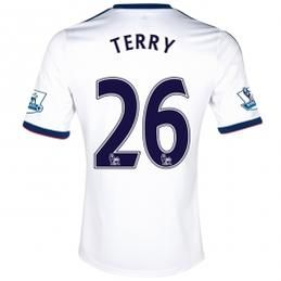 13-14 Chelsea #26 TERRY White Away Soccer Jersey Shirt