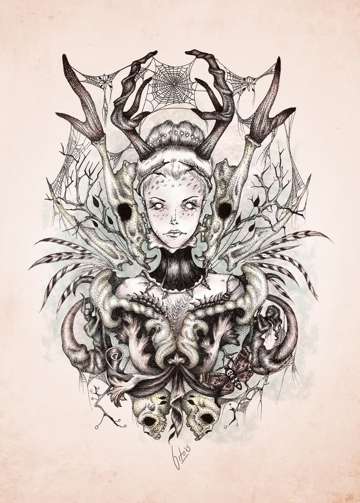 """""""Death"""" This work belongs to a series of illustrations entitled """"Cycles"""" By Vito Rodriguez Christensen"""