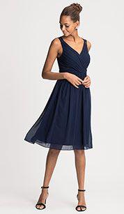 kleid in dunkelblau modestil kleider damen